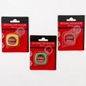 Tape Measure Keychain 3ft/1m 12pc Mdsgstrip 3ast Colors/blc