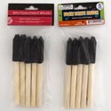 Paint Brush Foam 5pc W/wood Handle Dual Hardware/craft Hdr