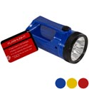 Flashlight Led 4.84in 3ast Clr W/handle Blue/yell/red Hdwr Ht 3aa Batteries Not Included