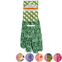 Garden Gloves Ladies Poly W/pvc Dot Palm 6asst Prints/l&g Tcd