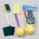 Cleaning Set 6pc 3asst W/dish Scrubbers, Sponges & Pads