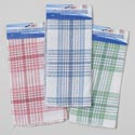 Scrubber Dishcloth 2pk 11.5 Inch Square 3asst Plaid Colors Cleaning Tie On Card