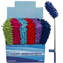 Duster Microfiber Telescopic Extend To 29in In 24pc Pdq 6asst Colors Cleaning Label