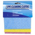 Cleaning Cloth 3pk W/non Abrasive Dots/12pc Mdsgstrip Cleaning Hdr/blue/pink/yellow