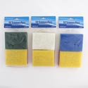 Scouring Pad Flat 12pc 3x4in 4ast Color Random Per Pk/cln Pb