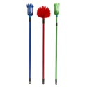 Broom Cobweb Extends To 71 In Red/blue/grn 8.5in Brush Cleanht