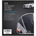 Car Seat Back Kick Mat 2pk Black W/organizer 17.32x22.24in Pb/insert *15.00*