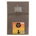 Cat Scratching Cardboard Pad Heavy Duty W/catnip Pouch 13x9in 1.25in Thick Shrink W/label