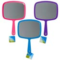 Hand Mirror 7.2x10.6 Rectangle 3asst Colors Hba Hangtag Purple/pink/turquoise