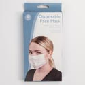 Face Mask Disposable 10pk One Size 6.75 X 3.75in Color Box