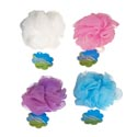 Bath Sponge 20gm 4ast Solid Clr Travel Size In 20pc Pvc Tube Hba Ht/peggable Hanging Tube
