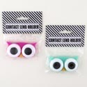 Contact Lens Holder Owl Eyes Novelty 2ast/12pc Mdsgstrip Hba Pbh