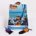 Eyeglass Cloth In Squeeze Case Microfiber W/carabclip/24pc Pdq 3ast Colors/ht W/display