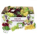 Grape Decor 36pc Cluster 3ast Colors W/silk Leaves 48pc Pdq