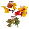 Garland Leaf 4ft Fall 3ast Berry Clusters Fall Barbell