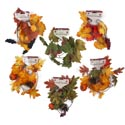 Garland Leaf 4ft Fall 6ast Grape Cluster/pinecone-gourd Fall Barbell Card
