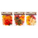 Harvest Leaves 3ast 50ct Pbh 1-regular/1-w/foil/1-w/burlap