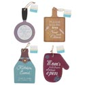 Hanging Plaque Kitchen Theme 4ast Shapes W/witty Sayings 5x8in/hangtag