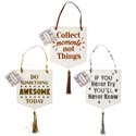 Hanging Inspirational Signs 3ast W/tassel Gold/silver Color 5.5 X 9.75in Deluxe/ht