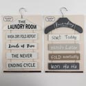 Home Laundry Room Wall Decor Hanger Shape 2ast Mdf Backercard 11.8w X 19.3h Upc Label/comply