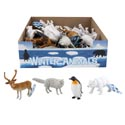Animal Figurines 4ast Winter In 36pc Pdq/ht 10ea Penguin/bear 8ea Deer/wolf