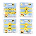Emoticon Bracelet 2pk Plstc 8in 4ast 12pc Mdsg Strip/pb Insert
