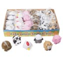 Farm Animal Squeeze Ball 6asst 24pc Pdq Opp Bag W/label 2.125 X 2.75 X 2.25 Inh