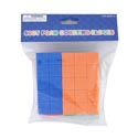 Foam Counting Blocks 50ct Asst Color 0.75in Pbh
