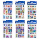 Sticker Pop Up Square Shaped 6asst Designs Polybag/hdr 17 Ct. Stickers