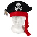 Pirate Hat Felt W/pirate Hangtag - Polybag Inners