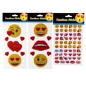 Stickers Emoticon 3ast Heart/lip Multipk On 12pc Mdsg Strip/pbh