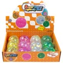 Glitter Ball Light Up 12pc Pdq Super Duper 4ast Colors