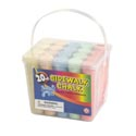 Chalk Sidewalk Jumbo 20ct Bucket W/handle 5ast Colors 4inh
