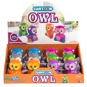 Wind Up Toy Owl 6ast Colors 12pc Pdq