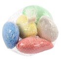 Chalk Rocks Washable Stone Shape 5pk Approx 3in Netbag W/ht