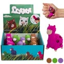 Alpaca W/squishy Bubble 4ast Colors 12pc Pdq/pb Lab *2.99* Purple/brown/pink/green Age 5+