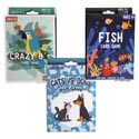 Card Games 3asst Styles War/ Go Fish/crazy 8 Ea Color Boxed Large Size Cards