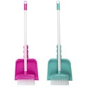 Cleaning Playset Mini Broom/ Dustpan Pink Or Green W/ht Age 3+