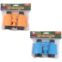 Binoculars Plastic Toy 2ast Clr Orange/blue Pbh