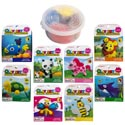 Clay Set Animal Character 8asst Container W/lid & Wrap Card