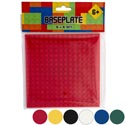 Blocks Baseplate 5x5in 6ast Colors Compatable With All Brands Pbh Ages 6+