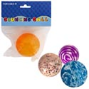 Bouncing Ball Rubber 2.24in 4ast Glitter/swirl/marble/neon Pbh