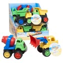 Construction Trucks 3asst In Plastic 6x4x4.5/12pc Pdq/ea W/ht