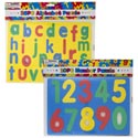 Foam Puzzle Alphabet & Numbers 3ast Styles X 4 Bright Colors Pbh