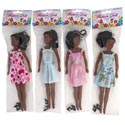 Fashion Doll 11.5in Black Assorted Outfits Pvh Pkg