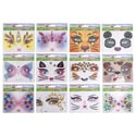 Face Art Everyday 12asst Styles Sequin Decor On 12pc Mdsg Strip Pb/insert Card 24pc Poly Inner