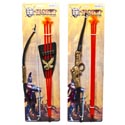 Knight Bow/arrow Playset Deluxe 2asst Size 17/18in Tieon Card