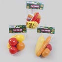 Play Food Set 3ast Fruit/fast Food/veggie Meshbag