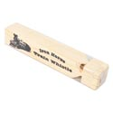Train Whistle Wooden 7inl Shrink W/label