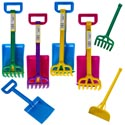 Sand Tool Set 3pc 13in 2 Color Combos Rake/shovel/hoe W/sleeve